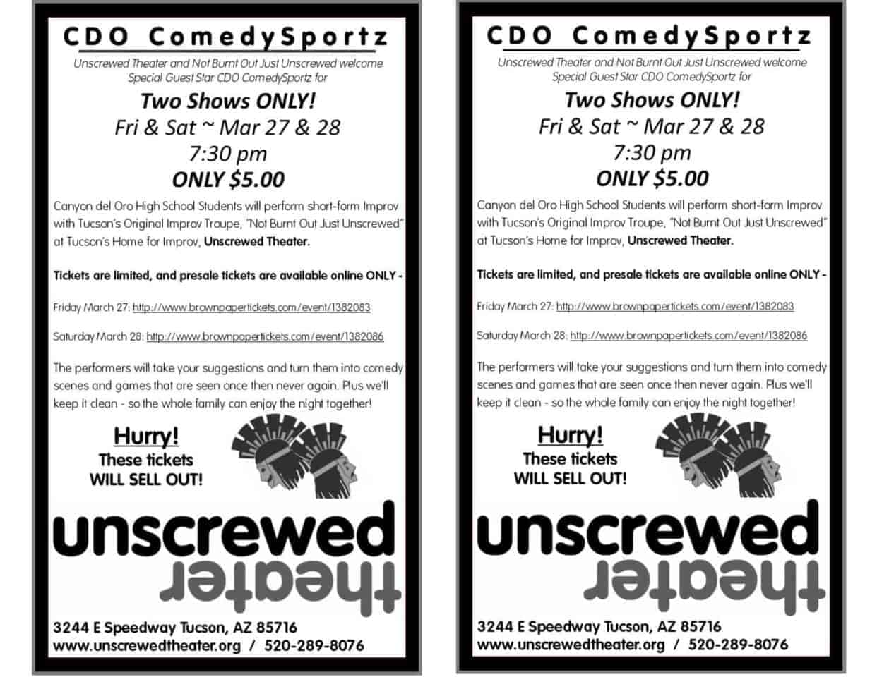 CDO Comedysports and Unscrewed Theater